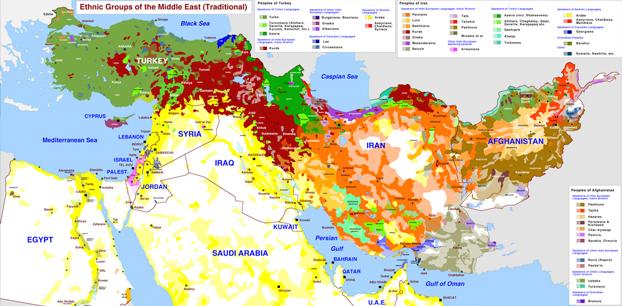 Quaranta mappe per capire il Medio Oriente