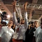 La candidata alle presidenziali Marina Silva durante la campagna elettorale a Rio de Janeiro, in Brasile. (Pilar Olivares, Reuters/Contrasto)